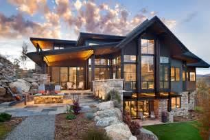 house plans contemporary boulder ridge mountain retreat featuring contemporary elegance