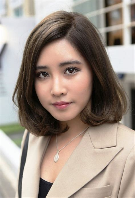 pictures  short japanese haircut  office ladies