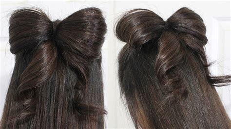 hair bow tutorial hairstyle  updo  medium long hair