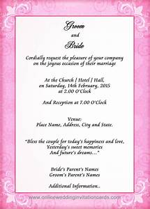 sample of wedding invitation cards sunshinebizsolutionscom With sample of wedding invitation 2017