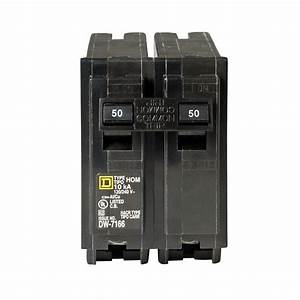 50 Amp 2 Pole Circuit Breaker Ul Listed 120 240 Volt Ac