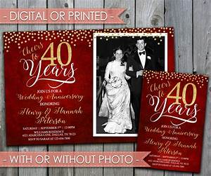 40th wedding anniversary invitation wedding anniversary With cheap 40th wedding anniversary invitations