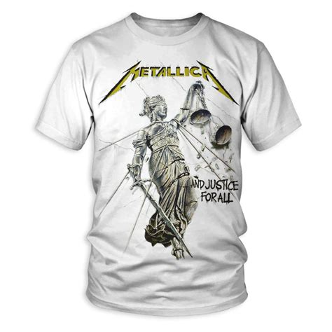 For All by And Justice For All Album Cover T Shirt Metallica