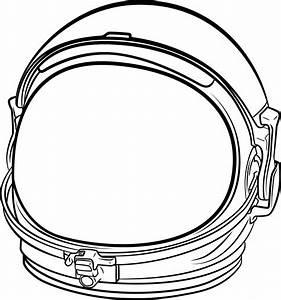 Clipart Astronaut Helmet Line Art, Astronaut Template ...