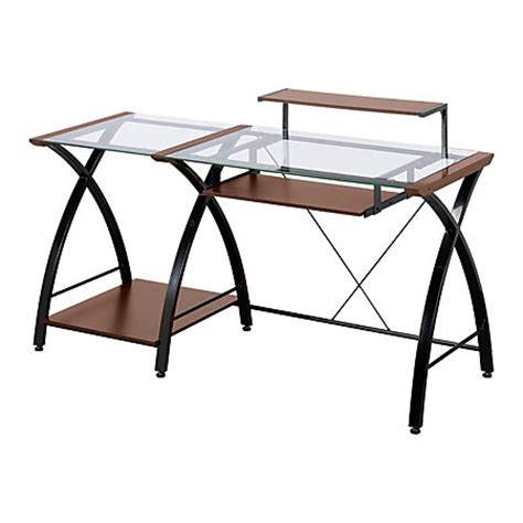 office depot glass computer desk z line designs brisa glass computer desk 36 h x 61 w x 24