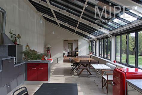 grande cuisine salle  manger sous la veranda