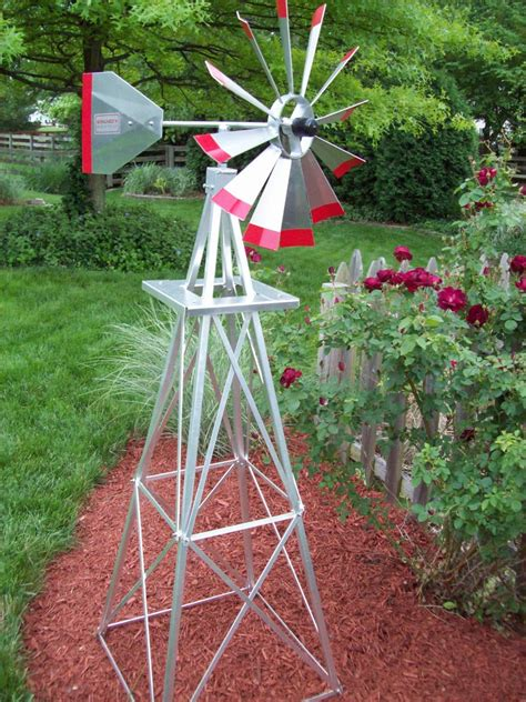 6 decorative ornamental garden aluminum windmills