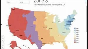Usps Zone Map    Zip Code To City Look Up