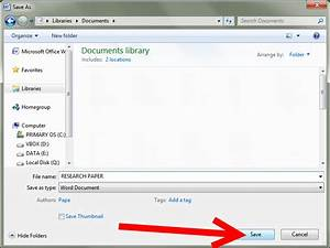 How to Save a Document in a Windows Based System: 4 Steps
