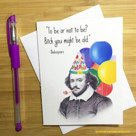 funny shakespeare birthday card william shakespeare