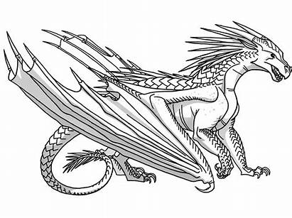 Wings Fire Dragon Coloring Bases Pages Dragons