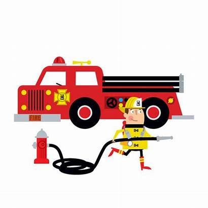 Fire Truck Clip Clipart Firetruck Office Fireman