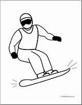 Snowboarding Coloring Clip Snowboarder Winter Snowboard Clipart Sport Skiing Abcteach sketch template