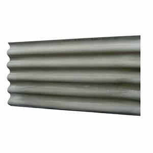 Plaque Ondulée Pour Toiture : plaque ondul fibrociment gris callibo calliprofil plaque ~ Premium-room.com Idées de Décoration