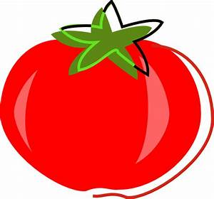 Red Tomato Illustration Clip Art at Clker.com - vector ...