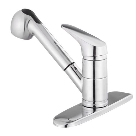 Pullout Spray Kitchen Faucet Swivel Spout Sink Single