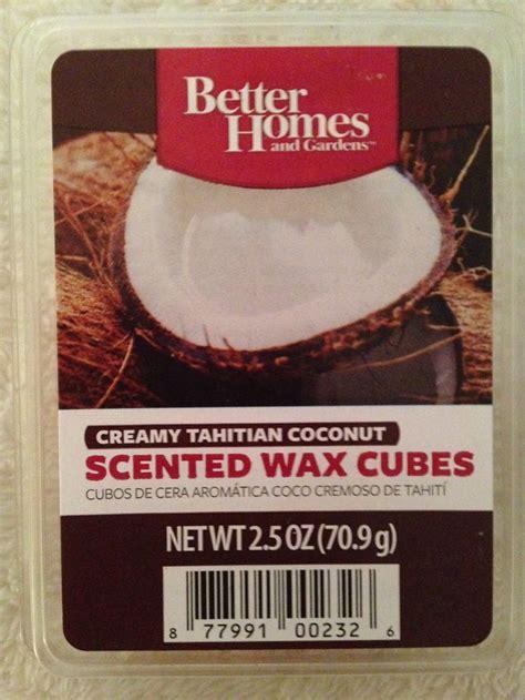 homes  garden creamy tahitian coconut wax cubes