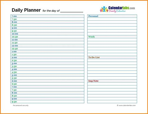Daily Schedule Template Daily To Do List Template Printable Daily Schedule
