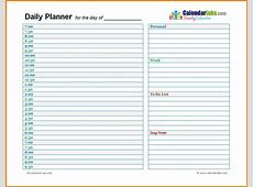 New Daily Schedule Template Aguakatedigital Templates