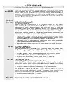 accounting controller resume exles controller resume
