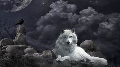 Moon Wolf Howling Dog