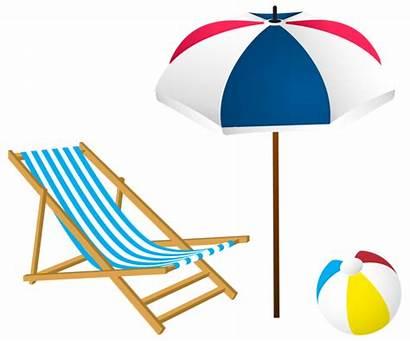 Beach Clip Summer Clipart Vacation Border Chair