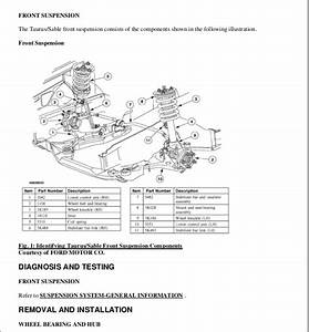 2005 Ford Taurus Service Repair Manual