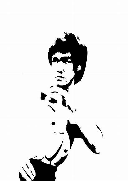 Bruce Lee Vector Silhouette Tattoo Photoshop Martial