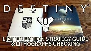 Destiny Limited Edition Hardcover Strategy Guide  U0026 Lithographs Unboxing  U0026 Review