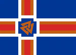 Flag Of Iceland Free Coloring Pages