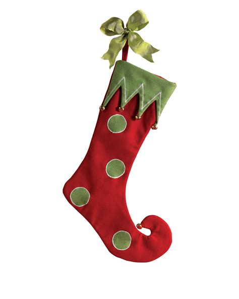 Santa's Elf Red Christmas Stocking   Treetopia