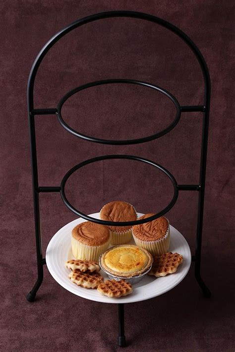 creative home iron works  tier metal dessert plate rack party food se