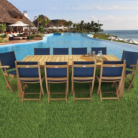 sailmate teak dining collection black  royal teak