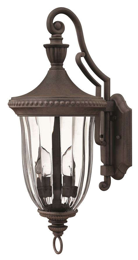 Exterior Sconce Lighting Fixtures - hinkley lighting 1244mn oxford traditional outdoor wall
