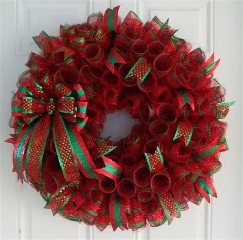 ideas  christmas mesh wreaths  pinterest
