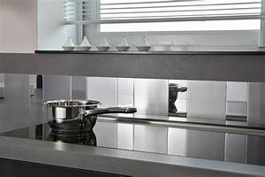 Crédence Adhésive Cuisine : une cr dence de cuisine adhesive miroir et inox avec ~ Melissatoandfro.com Idées de Décoration