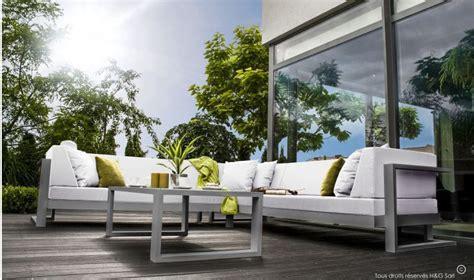 canap de jardin aluminium canap d 39 angle de jardin haut de gamme 6 places toscane