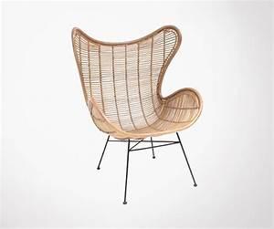 Fauteuil Rotin Design : fauteuil salon rotin style egg chair hk living ~ Nature-et-papiers.com Idées de Décoration