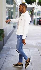 Light Blue Jeans Outfit Ootd White Denim Jacket Norris Danta Ford
