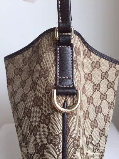 gucci monogram  britt medium ebony canvas hobo bag
