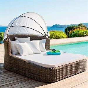 Bain De Soleil Resine Tressee : chaise longue de transat relax jardin fauteuil piscine en resine tressee maroc ~ Teatrodelosmanantiales.com Idées de Décoration