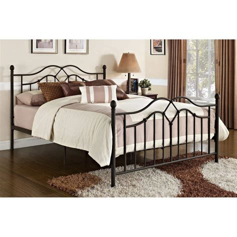 queen metal bed frame bedroom dorm bronze furniture sturdy