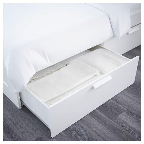 brimnes bed frame w storage and headboard white leirsund