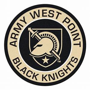 United State Military Academy Black Knights Logo Roundel Mat