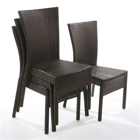 chaises tressées lot de 4 chaises brighton résine tressée achat vente