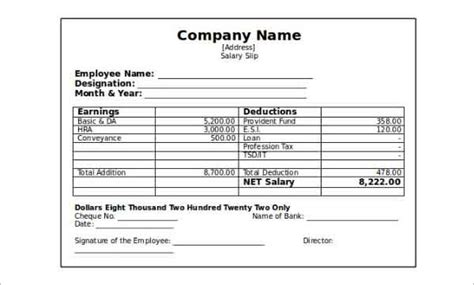 pay stub templates downloads word excel