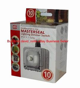 Landscape lighting dimmer : Mk masterseal outdoor ip lighting dimmer switch