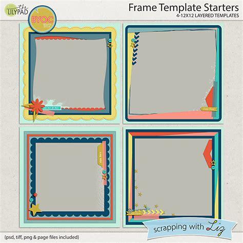 Digital Scrapbook Template  Frame Starters Scrapping