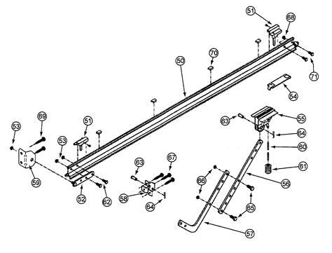 Garage Door Parts by Rail Assy Diagram Parts List For Model Cm8600 Genie