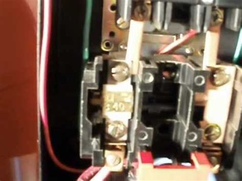 square  motor starter wire connections youtube